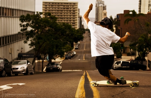Longboarder dancing on the Dervish