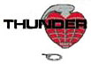 "THUNDER 1"" SILVER HARDWARE single set"